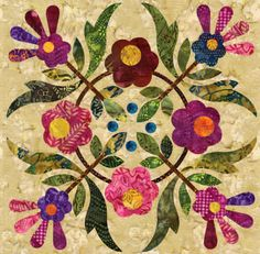 Silhouettes - Spring Bouquet Block 06