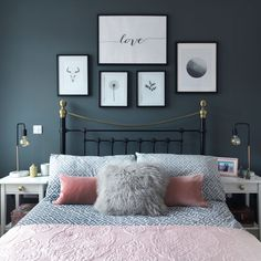Medium size of bedroom romantic white bedroom decorate my bedroom romantic master bedroom colors bedroom paint Couple Bedroom, Small Room Bedroom, White Bedroom, Bed Room, Master Bedrooms, Dark Grey Bedrooms, Dream Bedroom, Grey Bedroom Walls, Wall Decor For Bedroom