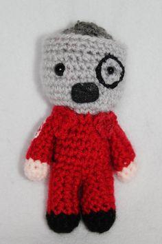 Corey Taylor Slipknot miniature pocket doll by livingdeaddesigns