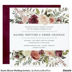 This year, burgundy is the new red. So get out there and paint the town burgundy on your wedding day! Create your burgundy wedding invitations on Zazzle today. Square Wedding Invitations, Watercolor Wedding Invitations, Rustic Invitations, Wedding Invitation Cards, Bridal Shower Invitations, Invites, Cheap Invitations, Invitations Online, Invitation Envelopes