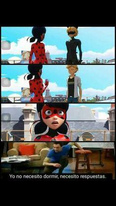 "😂😂😂😂😂😂😂😂 ""I do not need sleep, I need answers! Adrien Y Marinette, Miraculous Ladybug Memes, Miraclous Ladybug, Fangirl, Fandom, Sleep, Cartoon, Superhero, Disney"