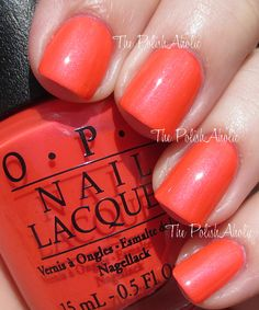 OPI Neons Collection Swatches/Down To The Core-al