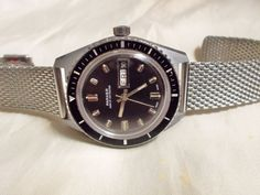 VINTAGE DIVER PARKER BY BULER  SWISS MADE CAL BFG 158 31/7 AUTOMATIC WATCH