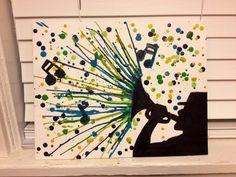 #trumpet melted crayon art