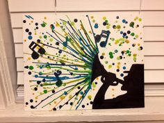 #trumpet melted crayon art