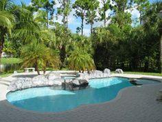 beautiful backyard pool