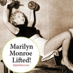 Because Marilyn Monroe lifted too! Arm Day plan