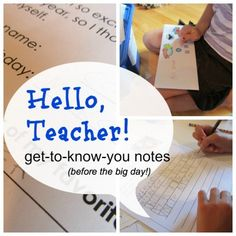 hello teacher note cover