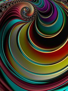 Twisting Rainbow Print by Amanda Moore Art Fractal, Fractal Images, Fractal Design, Der Computer, Art Antique, Rainbow Print, Psychedelic Art, Optical Illusions, Oeuvre D'art
