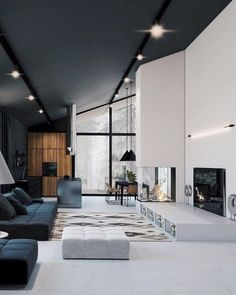 50 stunning modern home interior design ideas Informations About 50 Stunning Modern House Design Interior Ideas – Trendehouse Pin You … Modern Mansion Interior, Modern Home Interior Design, Modern House Design, Interior Architecture, Interior Ideas, Modern Houses, Luxury Interior, White House Interior, Wood House Design