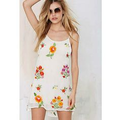 Nwt Embroidery Slip Mini Dress