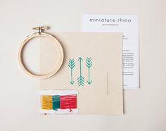 Hey, I found this really awesome Etsy listing at https://www.etsy.com/listing/241063339/mini-arrow-embroidery-kit-turquoise