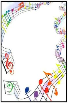 Résultat d'images pour free clip art musical borders transparent Page Boarders, Boarders And Frames, Page Borders Design, Border Design, Music Border, Music Crafts, Borders For Paper, Music Images, Note Paper