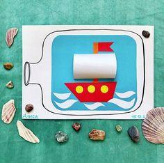 Поделки и игры для детей Summer Crafts, Fun Crafts, Diy And Crafts, Crafts For Kids, Montessori, Diy Upcycling, Teaching Art, Preschool, Projects To Try