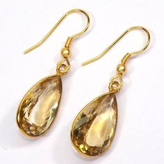 Now available on our store: Gold-plated Earri.... Check it out here! http://sitaracollections.com/products/gold-plated-earrings-handmade-faceted-citrine-dangle-earrings-pre-order?utm_campaign=social_autopilot&utm_source=pin&utm_medium=pin