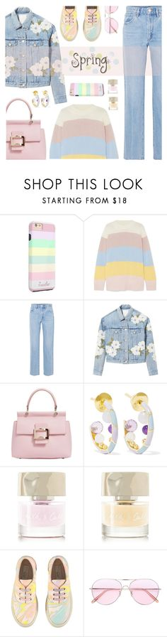 """""""Spring"""" by rasa-j ❤ liked on Polyvore featuring Chinti and Parker, Goldsign, Rebecca Taylor, Roger Vivier, Alice Cicolini, Smith & Cult, STELLA McCARTNEY, Oliver Peoples and womensFashion"""