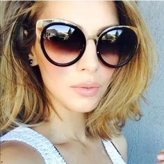Round cat eye mirror sunglasses New without tags round cat eye sunglasses mirrored lens 100% uv protection hand polished Accessories Sunglasses