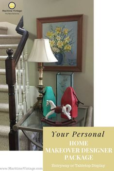 Your Personal Home Designer Makeover   Entryway Table Top Package
