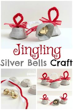 Silver Bells Craft - this is such a fun Christmas craft for kids in toddler, preschool, and kindergarten.