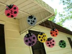 Swirling Twirling Ladybugs - Crafts by Amanda