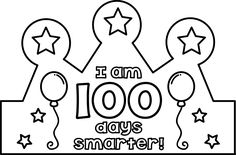 Here is a little crown freebie for the 100th day of school. :)Print these on cardstock (for more stand-up durability) or plain paper. Color, then cut it out. Then glue to a sentence strip.I hope these