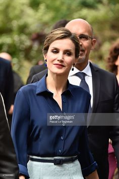 Queen Letizia of Spain arrives to attend the Velasquez painting exhibition at the Grand Palais on June 2, 2015 in Paris, France.