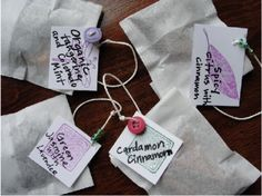 Cute Gift Idea...How to Make your Own Tea and Package it up for Friends and Family