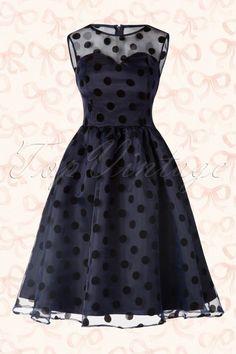 Lindy Bop Blue Polkadot Swing Dress 102 39 16059 20150709 014W