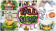Dollar Store DIY Fall Decor 2020 🍁 - YouTube Dollar Tree Fall, Dollar Tree Decor, Dollar Tree Crafts, Fall Projects, Diy Craft Projects, Craft Ideas, Decor Ideas, Diy Crafts, Fall Arts And Crafts