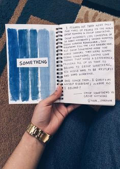 Group Something VS Group Nothing // an excerpt // writing art journal, tumblr worthy, writing inspiration //
