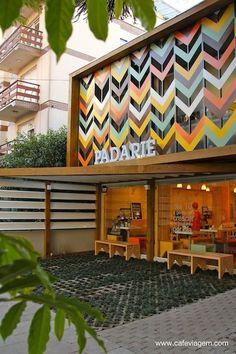 Café Exterior, Design Exterior, Building Exterior, Building Facade, Facade Design, Exterior Signage, Restaurant Facade, Outdoor Restaurant, Cafe Concept