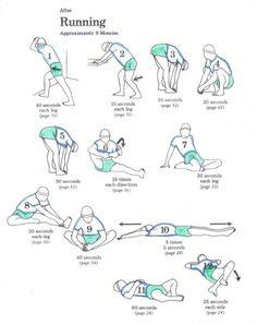 12 упражнений для растягивания мышц после бега