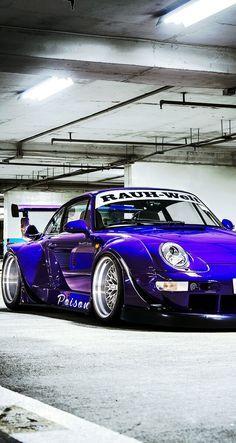 RWB Porsche 99 993 Poison Painted In Ultraviolet Purple