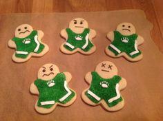 Cookies for my son's wrestling team Wrestling Team, Wrestling Singlet, Banquet Ideas, Sport 2, 4th Birthday Parties, Kids Sports, School Spirit, Cookie Decorating, Maid