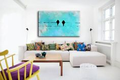 BIRD AND BIRD [023-98740382] - $399.00 | United Artworks | Original art for interior design, buy original paintings online