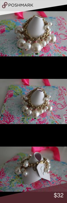 Lilly Pulitzer Pearl Bracelet 💕 Lilly Pulitzer Pearl Bracelet Lilly Pulitzer Jewelry Bracelets