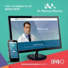 Dr. Marcus Moreno agora recebe bem seus pacientes em mais um endereço: www.drmarcusmoreno.com.br🚀    #bravo #bravocreative #gerenciadordeconteudo #layoutexclusivo #designresponsivo #novosite #site #html5 #html #css3 #javascript #wordpress #design #responsivo #mobile