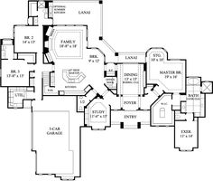 Country Style House Plans - 3864 Square Foot Home, 2 Story, 4 Bedroom and 4 3 Bath, 3 Garage Stalls by Monster House Plans - Plan 62-248