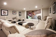 Make complete use of the limited space on offer with the right decor 10 Awesome Basement Home Theaters that Deliver Movie Magic!