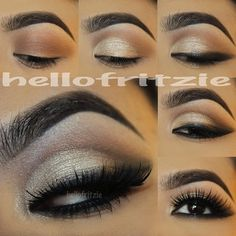 Stunning gold eyes pictorial by #hellofritzie using #motivescosmetics!