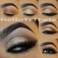 Stunning gold eyes pictorial by #hellofritzie using #motivescosmetics!