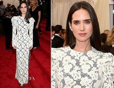 Jennifer Connelly In Louis Vuitton - 2015 Met Gala - Red Carpet Fashion Awards Louis Vuitton Clothing, Met Gala Red Carpet, Jennifer Connelly, Michelle Williams, Catherine Deneuve, French Brands, Cannes Film Festival, Opening Ceremony, Red Carpet Fashion