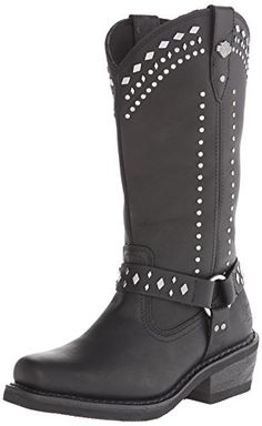 Harley-Davidson Women's Summer Work Boot, Black, 9.5 M US *** Details can be found by clicking on the image.