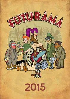 Futurama, calendar 2015, cover by bear-bm