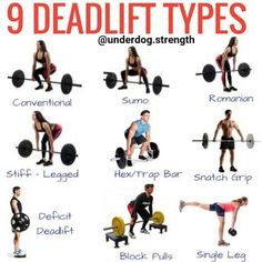 fitness How to Deadlift Properly (For Beginners) - Underdog Strength Training Weight Lifting, Weight Training, Best Weight Loss, Deadlift Variations, Belly Dancing Classes, Lunge, Muscular, Powerlifting, Strength Training