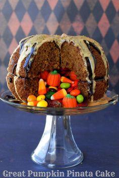 Great Pumpkin Pinata Cake