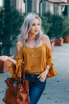 Blondie in the City | Off The Shoulder Top @Forever21 | Michael Kors Bag…