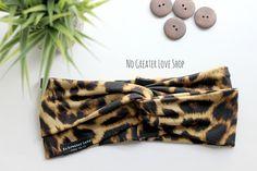 Gorgeous Leopard Print Headband - Turban Headband - Bow Headband - Headwrap - Top Knot - Baby Child Adult - Buy One Give One