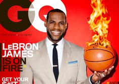 LeBron James on Fire for GQ