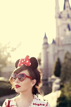 Red Lips and a perfect photo opportunity for Disney // Keiko Lynn